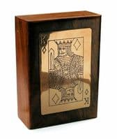 Handmade King Playing Card Wooden Box Personalised | County Engraving